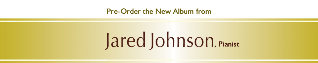 Pre-order Wedding Bells in the Key of J by Jared Johnson, pianist, available June 28